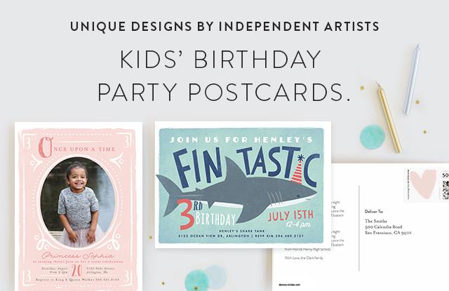 Kids Birthday Postcards