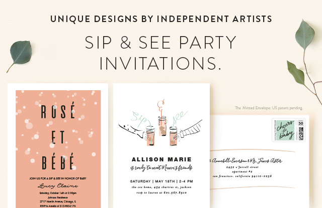 Sip & See Party Invitations