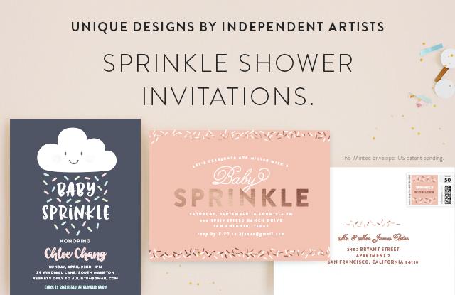 Sprinkle Shower Invitations