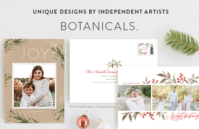 Botanical Christmas Cards