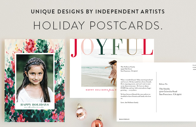 Holiday Photo Postcards