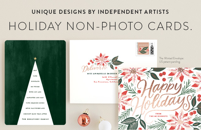 Holiday Non-Photo Cards