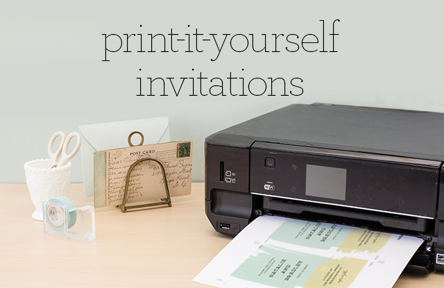 Print It Yourself Wedding Invitations