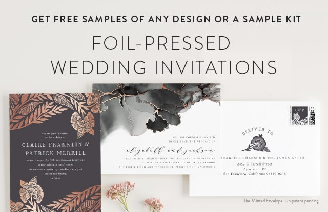 Foil-Pressed Wedding Invitations