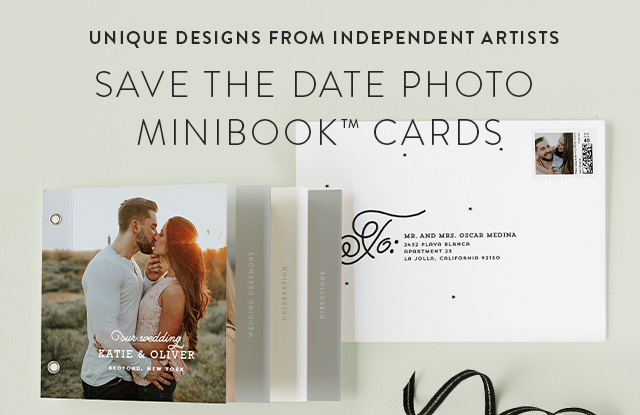 Save the Date Photo Minibook Cards