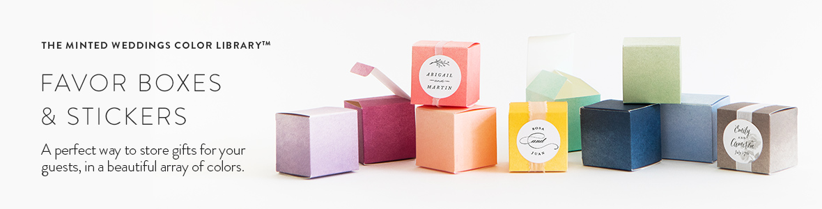 Favor Boxes and stickers