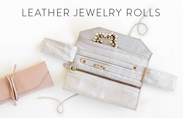 Leather Jewelry Rolls
