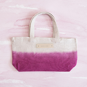 Personalizable Dip-Dyed Canvas Tote
