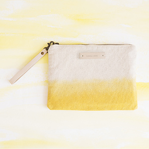 Personalizable Dip-Dyed Canvas Clutch
