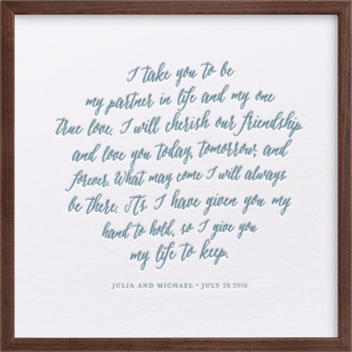 Your Vows as a Letterpress Art Print