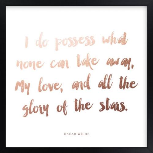 Your Favorite Poem as a Foil Art Print