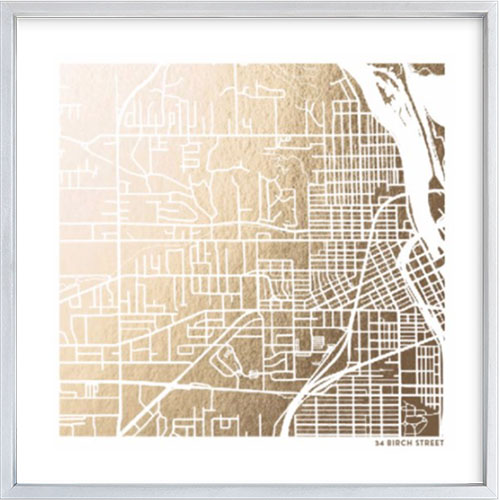 Custom Map Foil Art