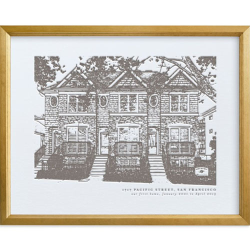 House Letterpress Portrait Art
