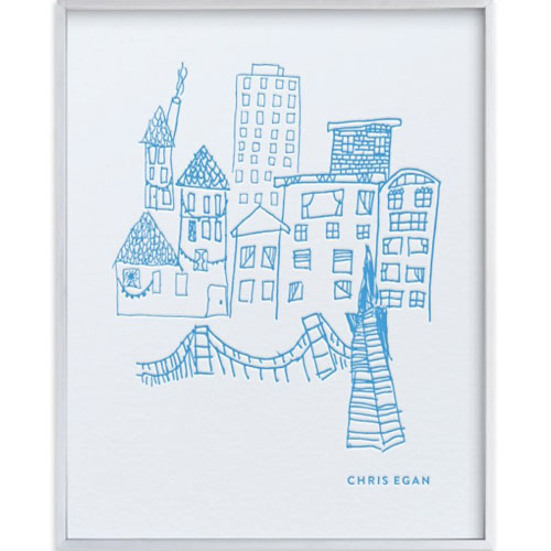 Your Drawing as a Letterpress Art Print