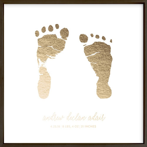 Custom Footprints & Handprints Foil Art Print