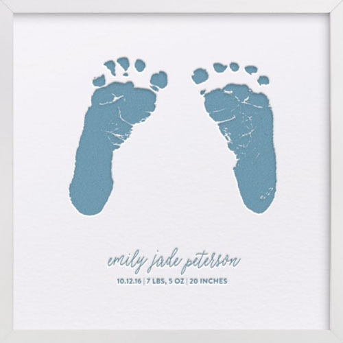 Custom Footprints & Handprints Letterpress Art Print