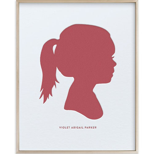 Custom Silhouette Letterpress Art with Text