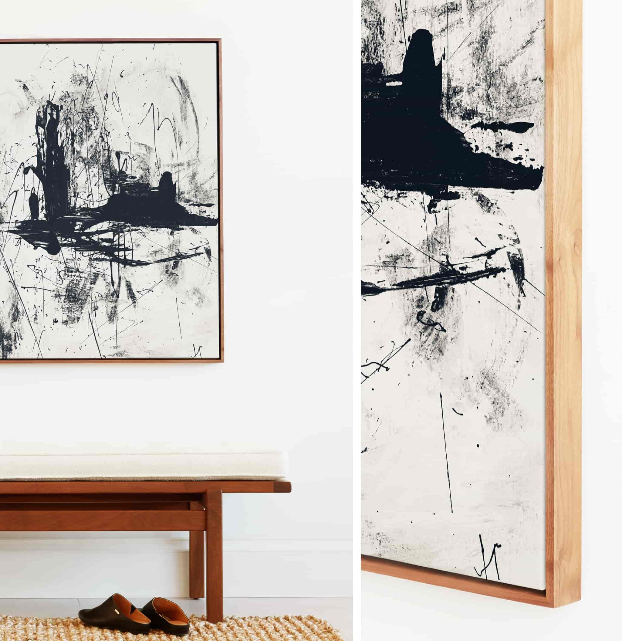 Abstract art print with premium frame