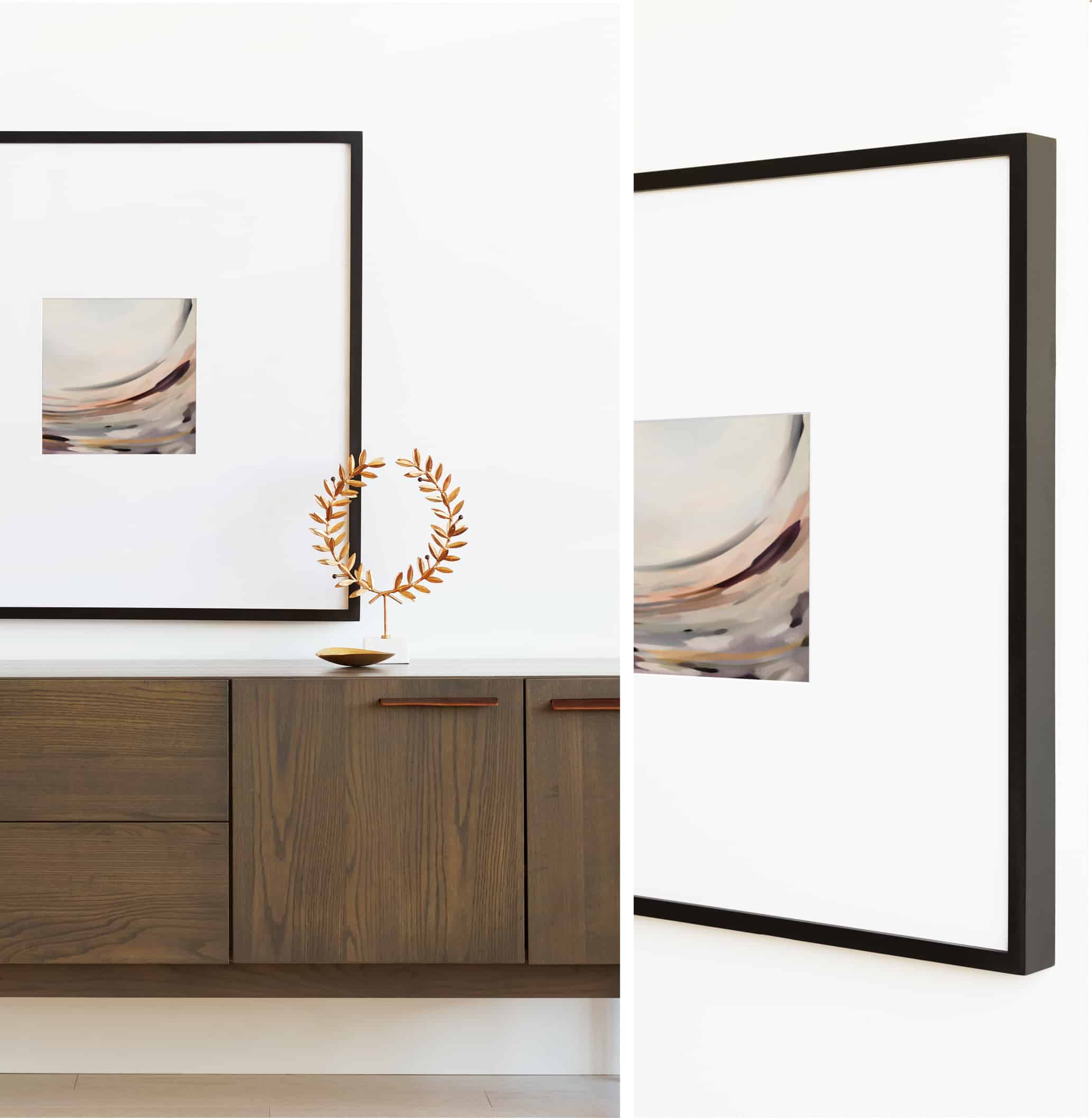 Art print with cabinets
