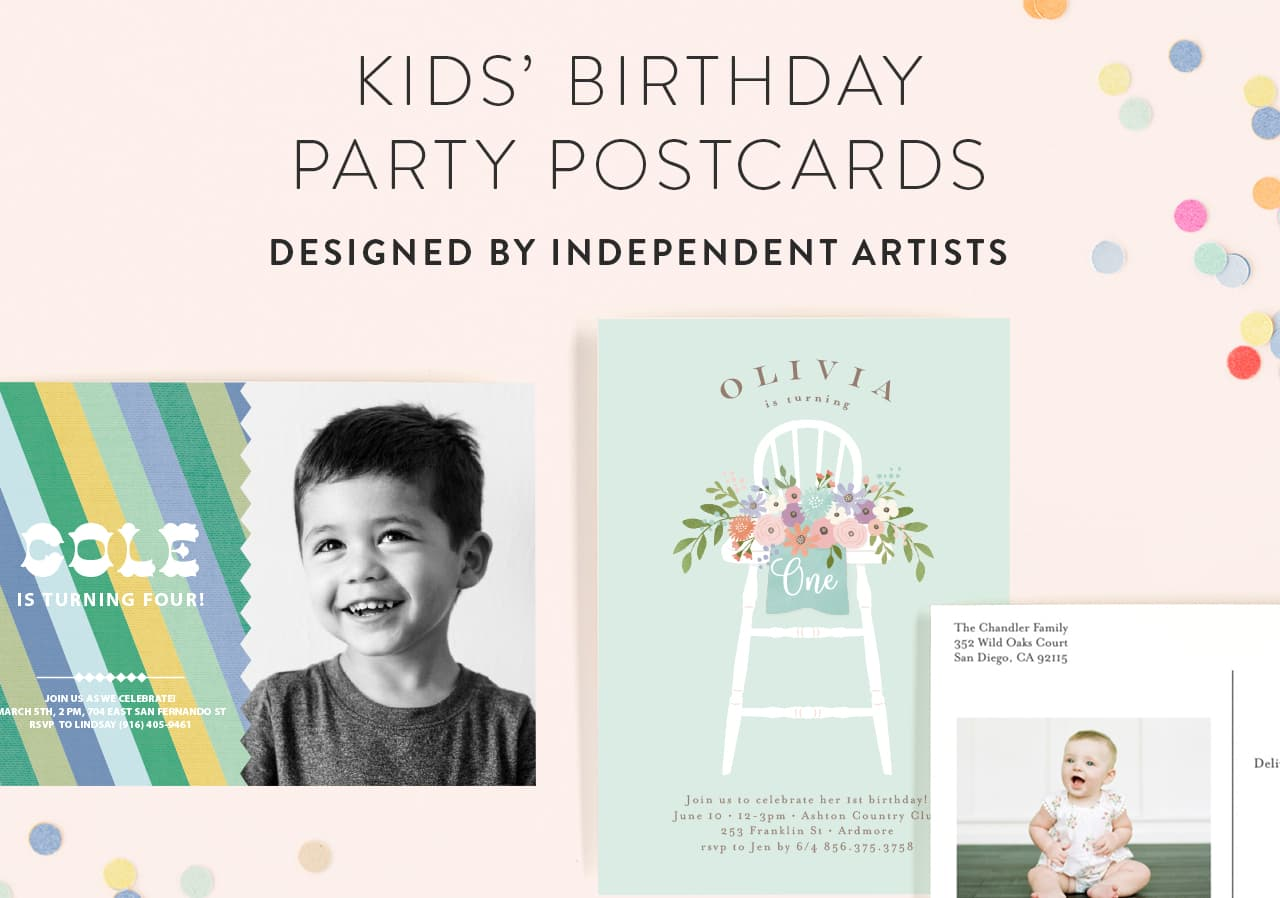 Kids Birthday Postcards
