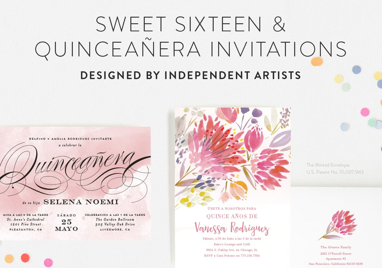 Sweet Sixteen Birthday Party Invitations