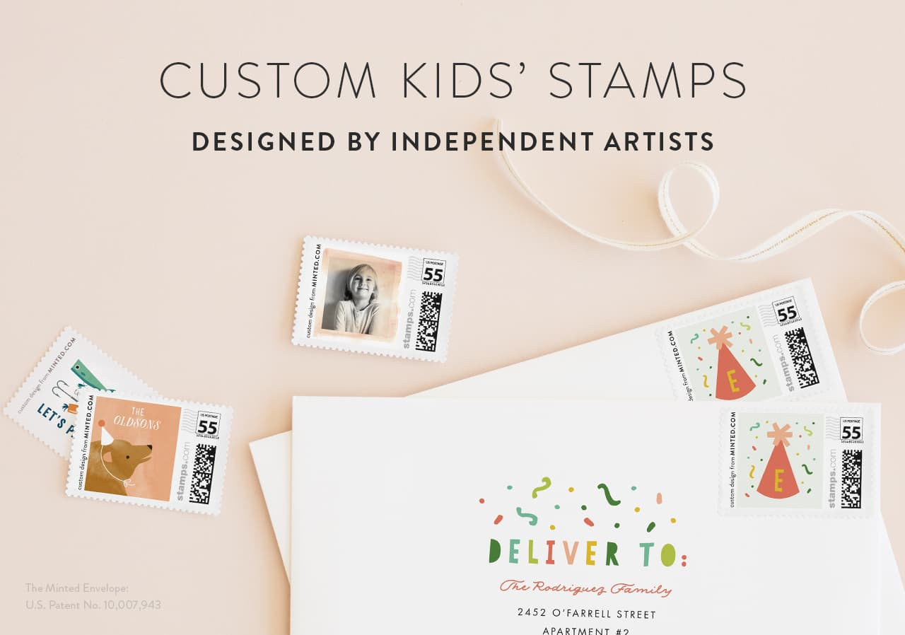 Kids Postage Stamps