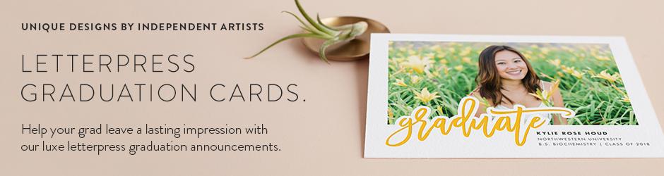 letterpress graduation announcements