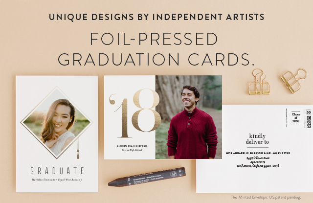 Foil Stamped Graduation Cards