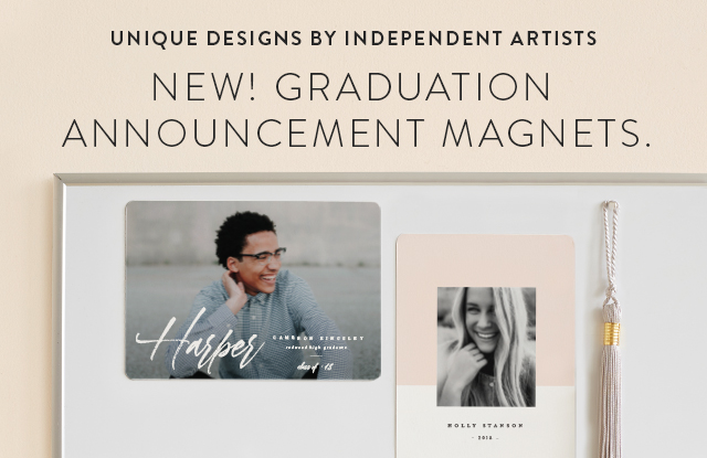 Graduation Announcement Magnets