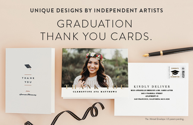 graduation thank you card