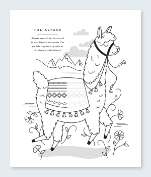 Alpaca Coloring Pages Printable