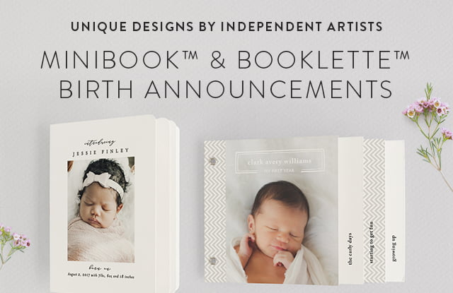 Birth Announcement Minibooks