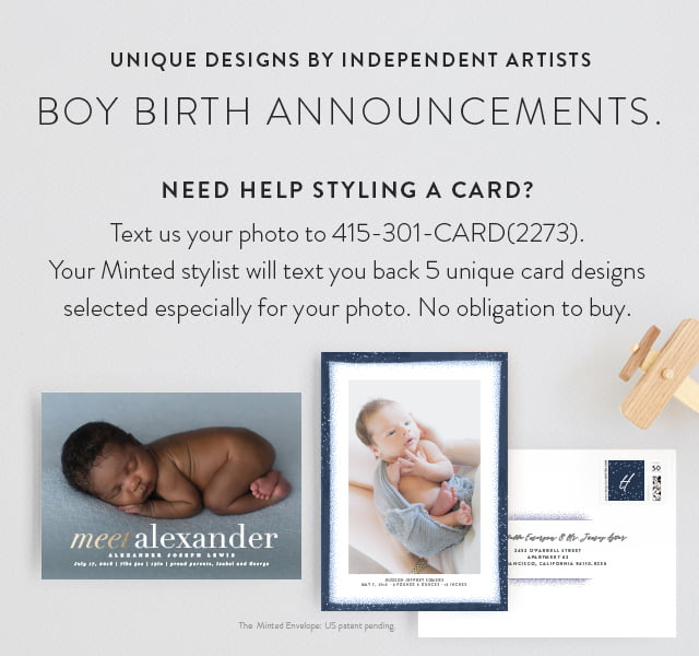 Boy Birth Announcements