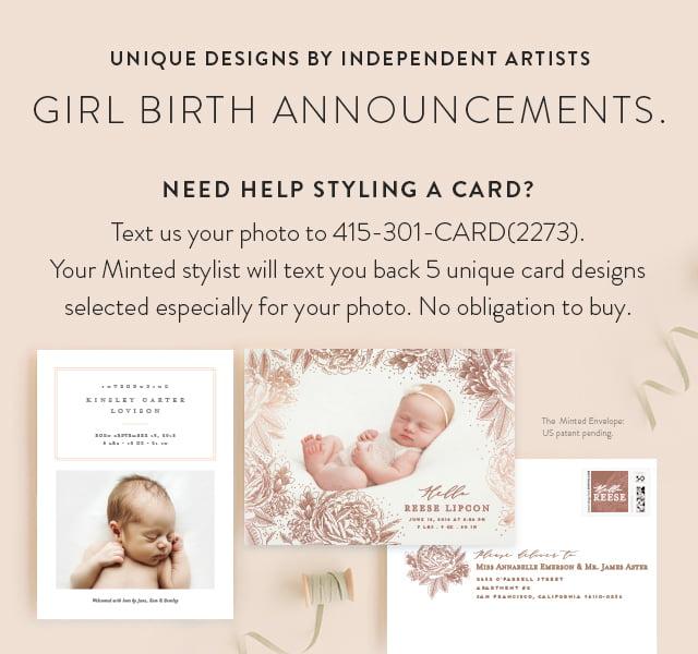 Girl Birth Announcements