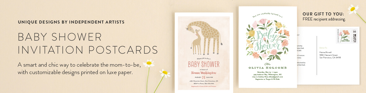 Baby Shower Invitation Postcards