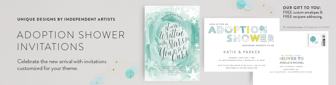 Adoption Shower Invitations