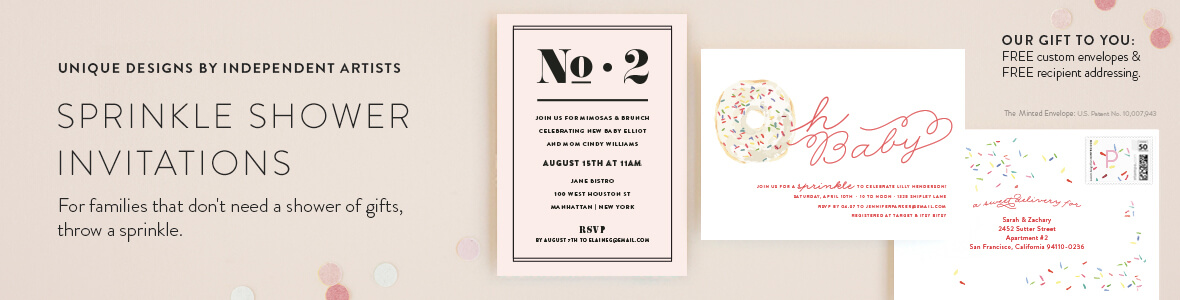 Sprinkle Shower Invitations