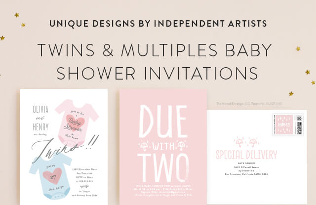 Twins & Multiples Baby Shower Invitations