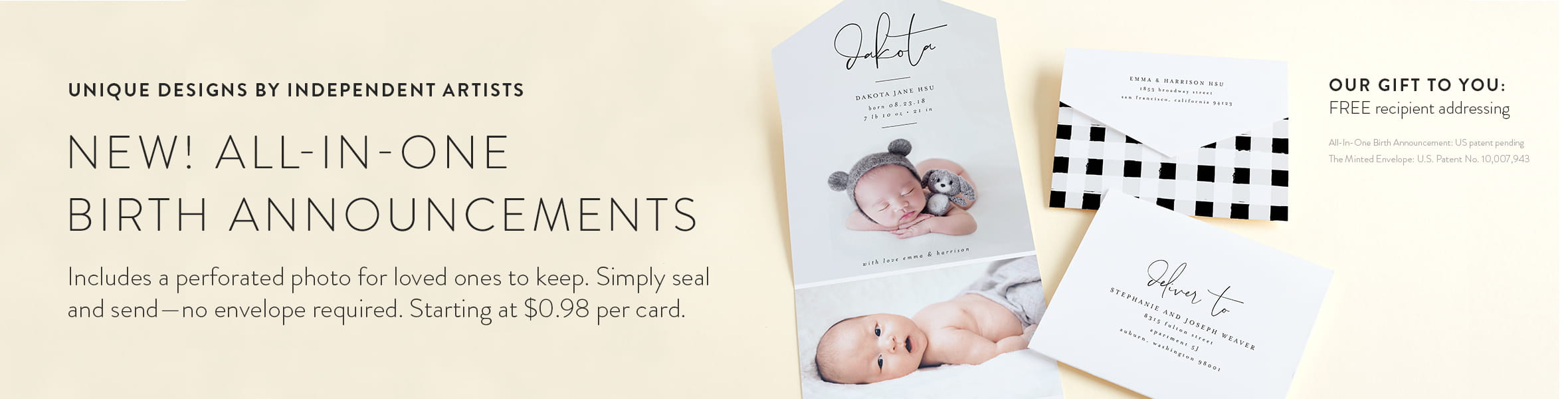 All-in-One Birth Announcements