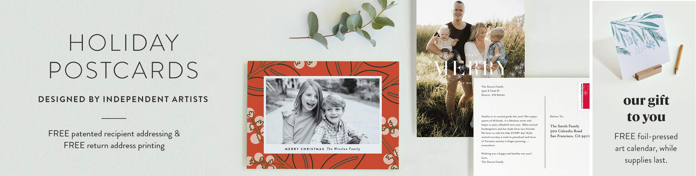 Holiday Photo Postcards