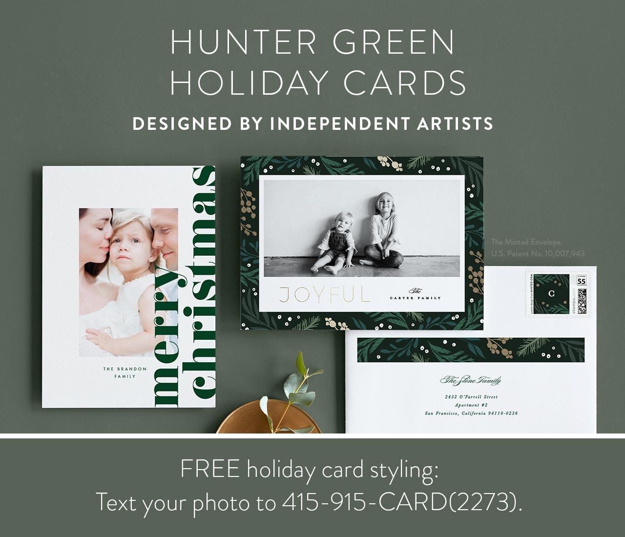 Elegant Evergreen Holiday Cards