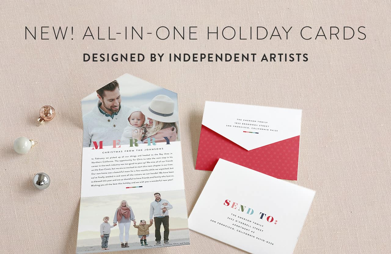 All in One Holiday Cards