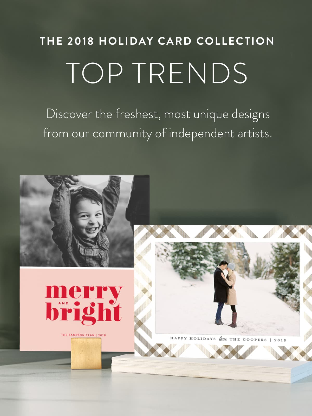 top holiday card trends