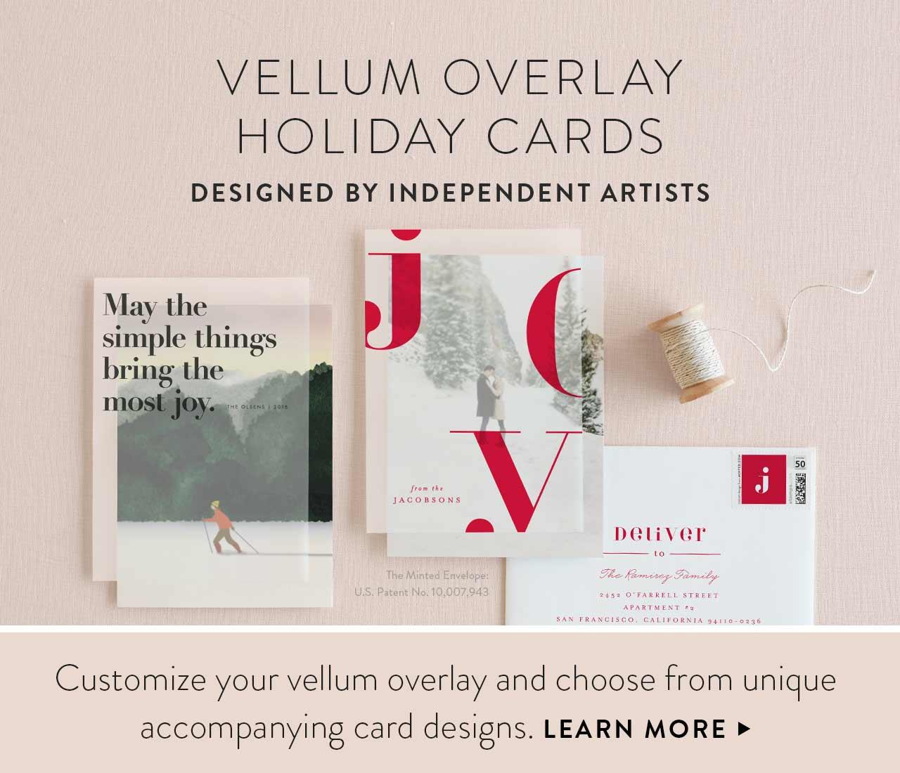 Vellum Holiday Cards