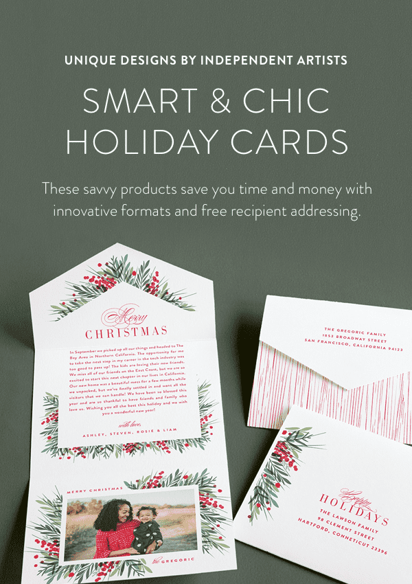 smart & chic holiday cards