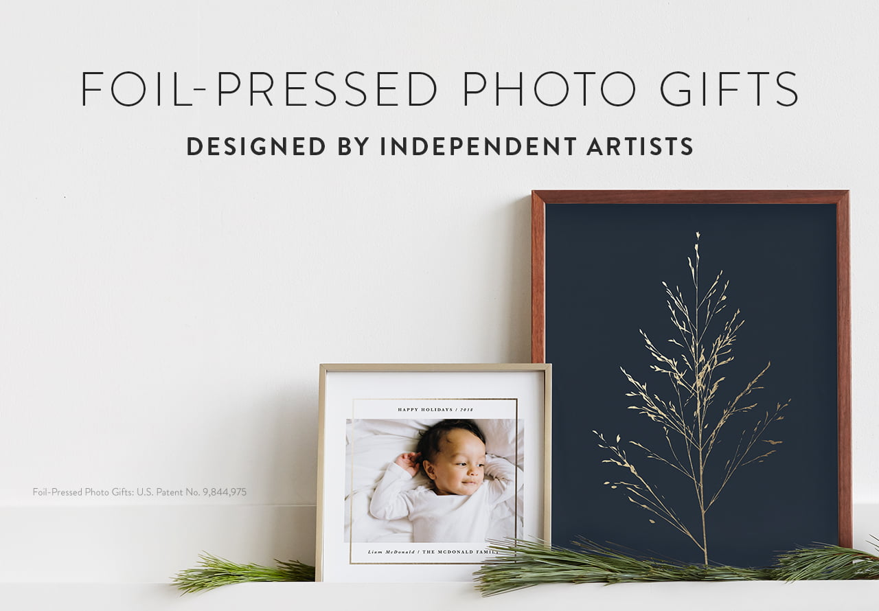 Foil-Pressed Photo Gifts