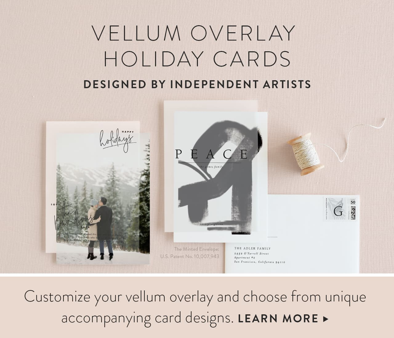 Vellum Holiday Cards