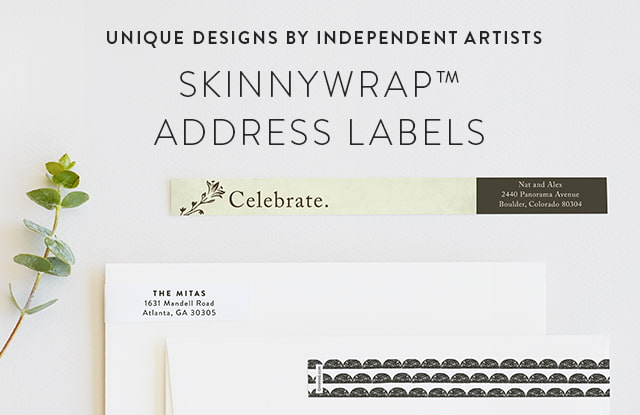 Skinny Wrap Address Label