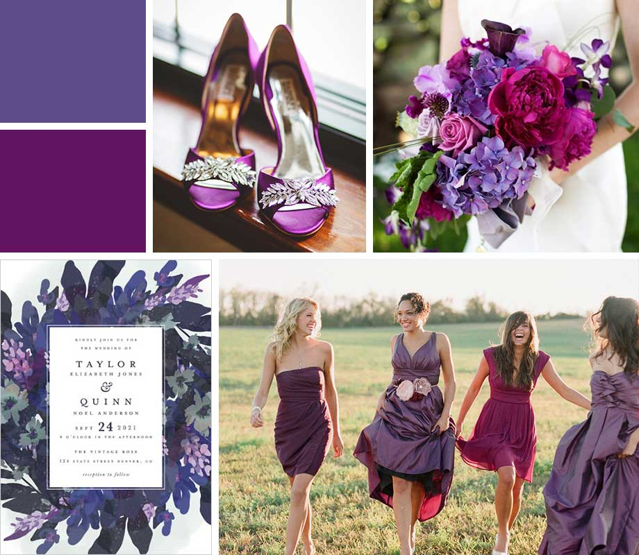 Ultra Violet wedding palette inspiration