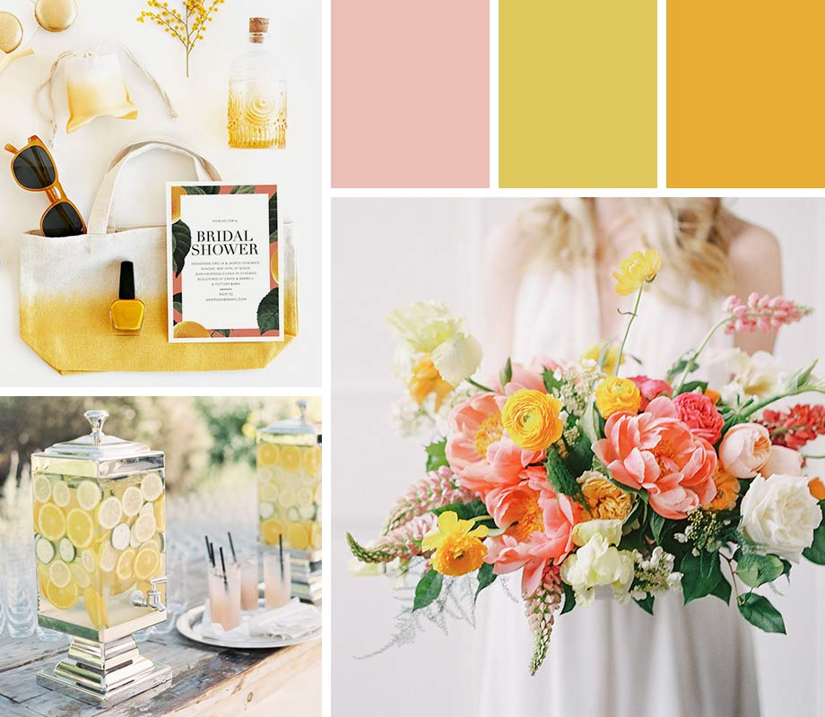 Citrus wedding palette inspiration